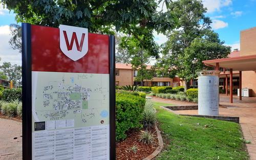 Map sign at uni