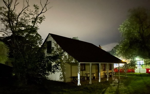 Eerie night at Wilberforce's Rose Cottage